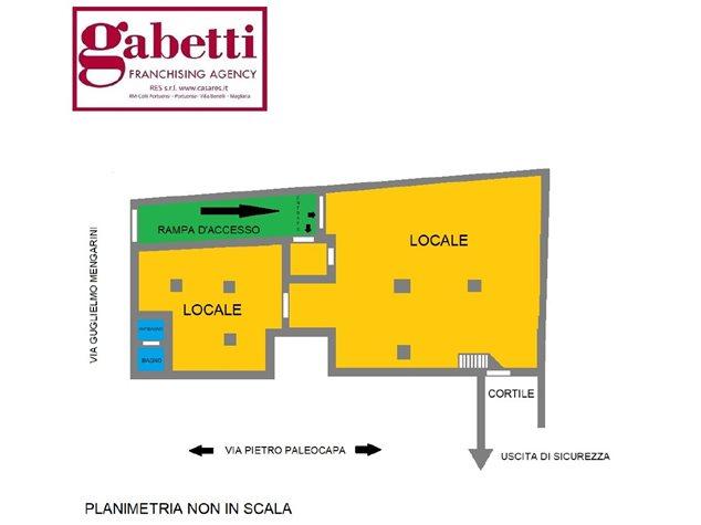 floorplans Roma (RM), Negozio, Via Guglielmo Mengarini