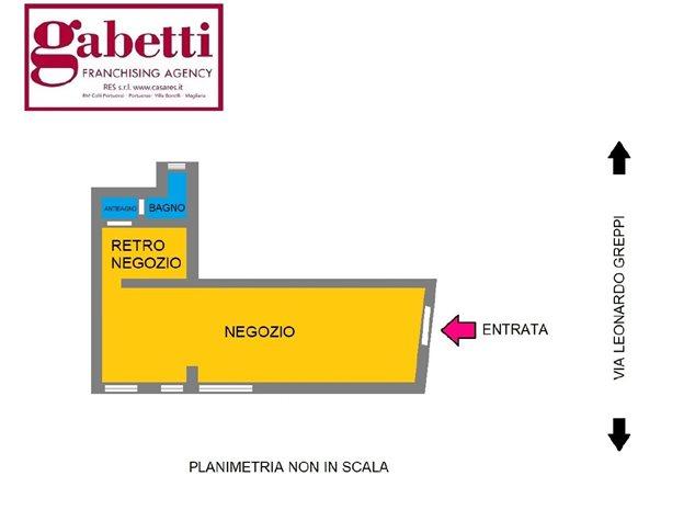 floorplans Roma (RM), Negozio, Via Leonardo Greppi