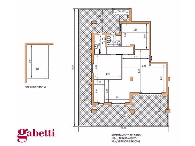 floorplans Barletta: Appartamento in Vendita, Via Romanelli, immagine 1