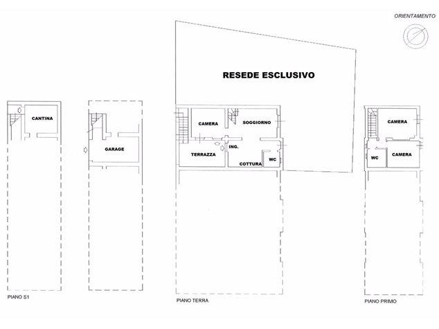 floorplans Murlo: Villa a schiera in Vendita, , immagine 1