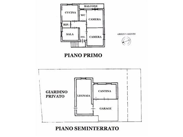 floorplans Rapolano Terme: Villetta in Vendita, , immagine 1
