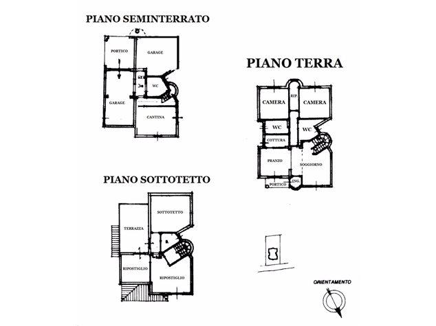 floorplans Asciano: Villa in Vendita, , immagine 1