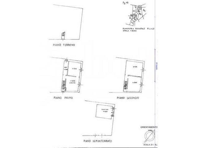floorplans Chiusdino: Appartamento in Vendita, Via Del Lavatoio, 8/10, immagine 1