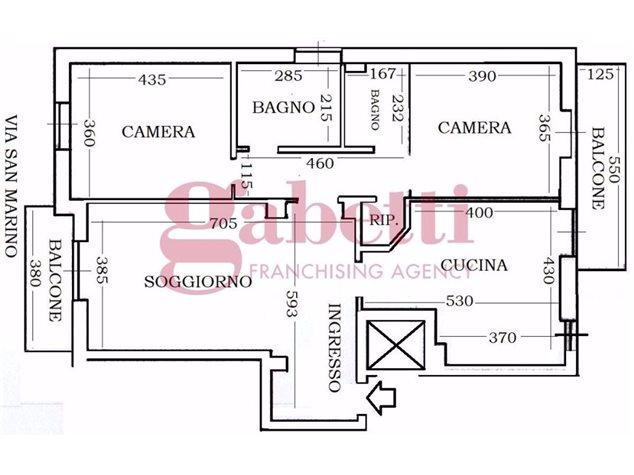 floorplans Torino: Appartamento in Vendita, Via San Marino , 68, immagine 1