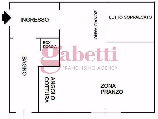 floorplans Torino: Appartamento in Affitto, Via Bainsizza , 8, immagine 1