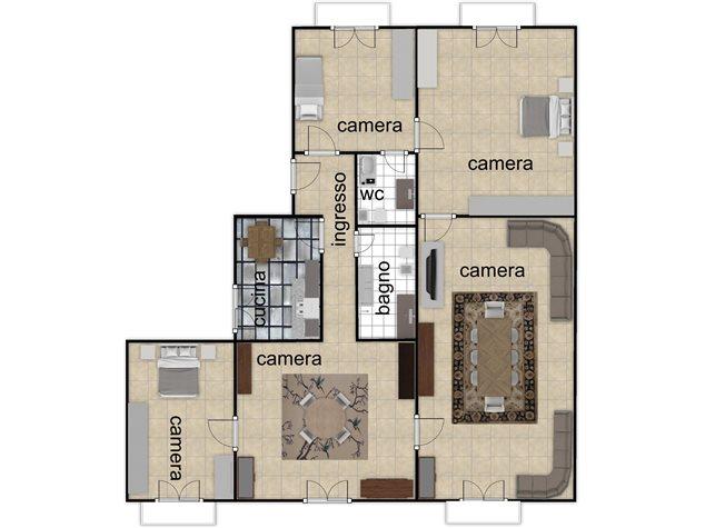 floorplans Napoli: Appartamento in Vendita, Via Settembrini , 61, immagine 1