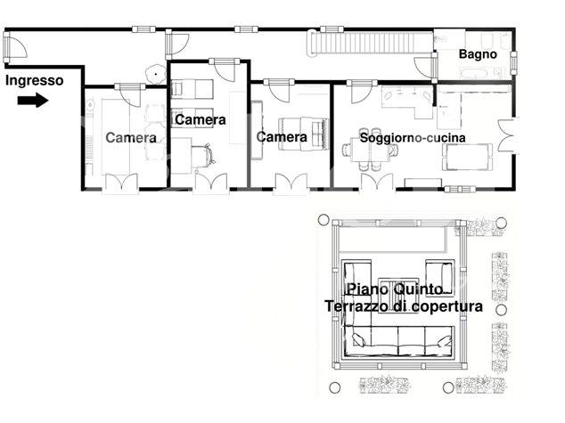 floorplans Napoli: Appartamento in Vendita, Via Dei Tribunali, 362, immagine 2