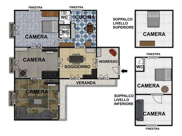 floorplans Napoli: Appartamento in Vendita, Via Salvatore Tommasi , 62, immagine 1