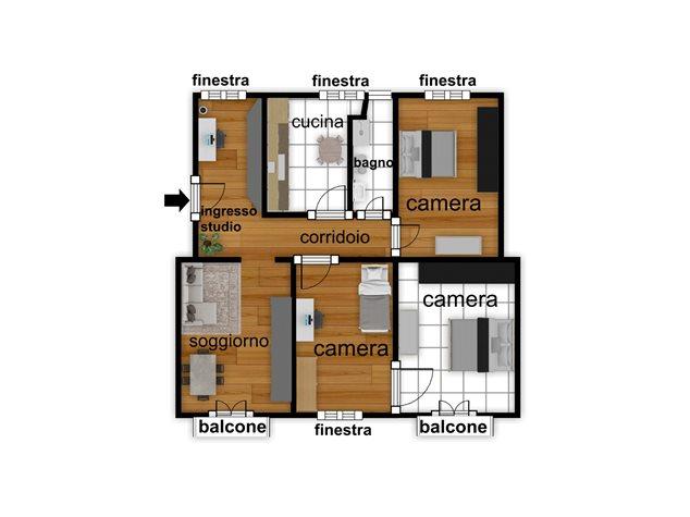floorplans Napoli: Appartamento in Vendita, Piazza Garibaldi, 118, immagine 2