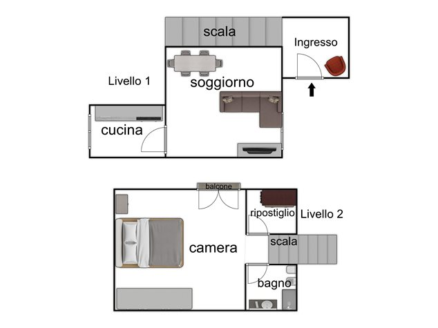 floorplans Napoli: Appartamento in Vendita, Via Santa Maria La Nova , 32, immagine 2