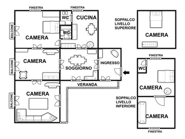 floorplans Napoli: Appartamento in Vendita, Via Salvatore Tommasi , 62, immagine 2