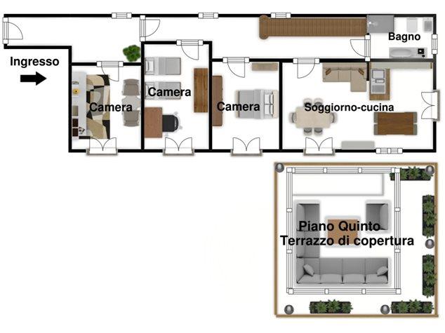 floorplans Napoli: Appartamento in Vendita, Via Dei Tribunali, 362, immagine 4