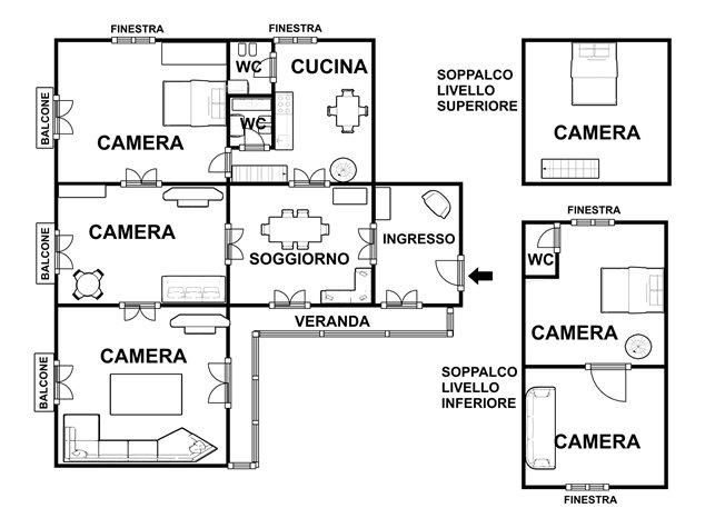 floorplans Napoli: Appartamento in Vendita, Via Salvatore Tommasi , 62, immagine 9