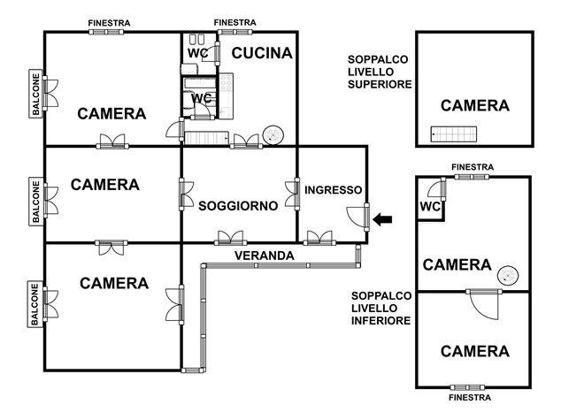 floorplans Napoli: Appartamento in Vendita, Via Salvatore Tommasi , 62, immagine 8