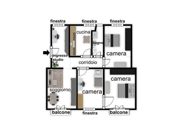 floorplans Napoli: Appartamento in Vendita, Piazza Garibaldi, 118, immagine 4
