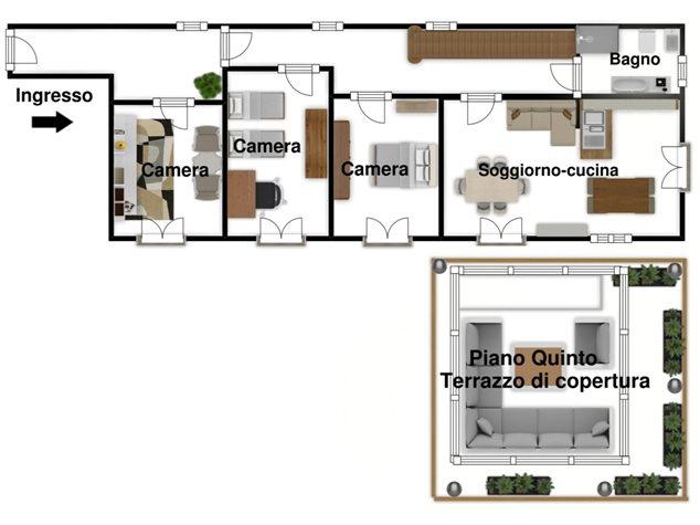 floorplans Napoli: Appartamento in Vendita, Via Dei Tribunali, 362, immagine 7