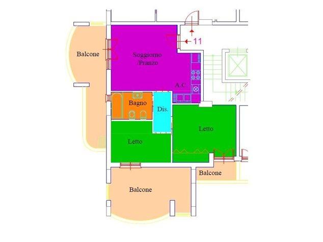 floorplans Aprilia: Appartamento in Vendita, Via Bulgaria, 22, immagine 1