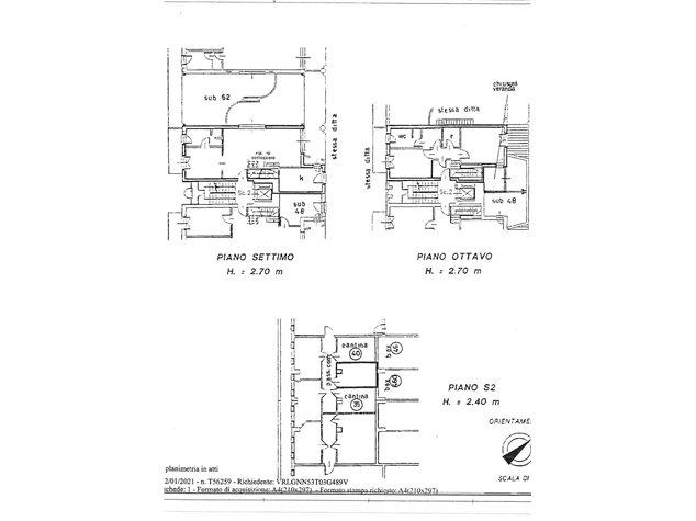floorplans Milano: Appartamento in Vendita, Via Rizzoli, 49, immagine 1