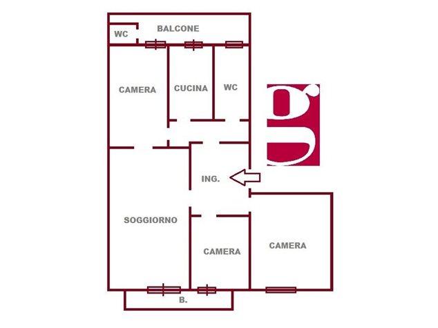 floorplans Messina: Appartamento in Vendita, Via Rocca Guelfonia, 2, immagine 1