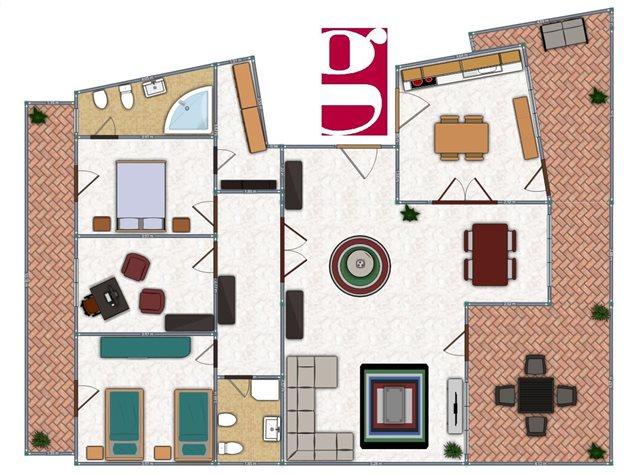 floorplans Messina: Appartamento in Vendita, Via Ducezio, 40, immagine 2