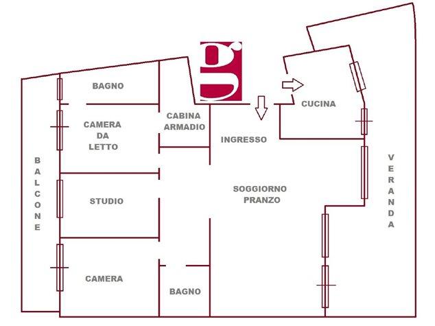 floorplans Messina: Appartamento in Vendita, Via Ducezio, 40, immagine 1