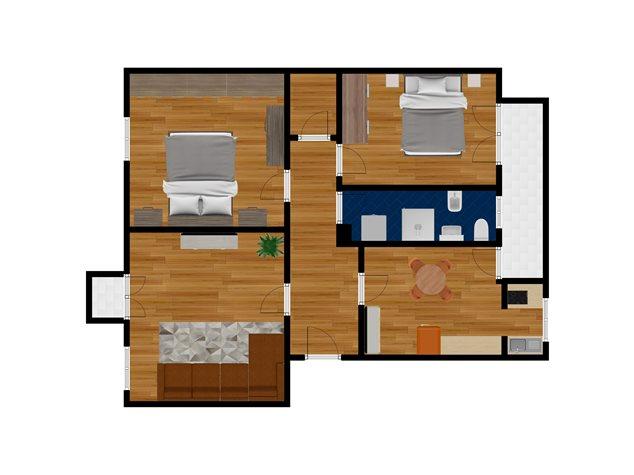 floorplans Bologna: Appartamento in Vendita, Via Emilia Ponente, 38, immagine 1