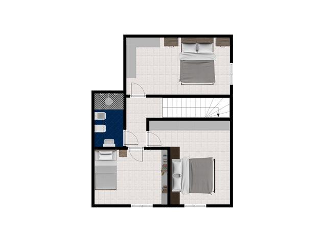 floorplans Bologna: Appartamento in Vendita, Via Cristoforo Colombo, 62, immagine 2