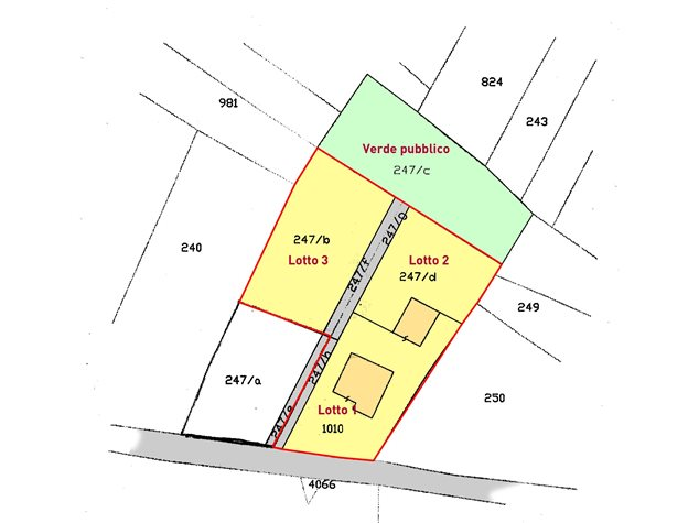 floorplans Fossacesia: Terreno edificabile in Vendita, Via Canapari, 63, immagine 1