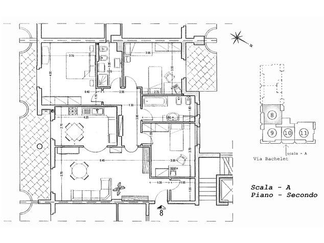 floorplans Fossacesia: Appartamento in Vendita, Via Bachelet, immagine 1