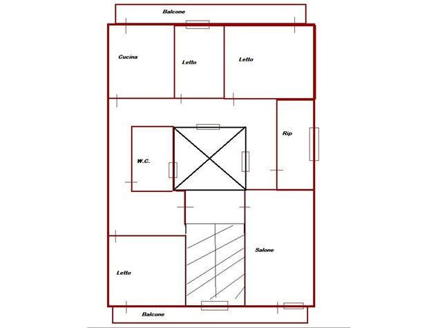 floorplans Messina: Appartamento in Vendita, Via Nazionale Santa Margherita, 264, immagine 1