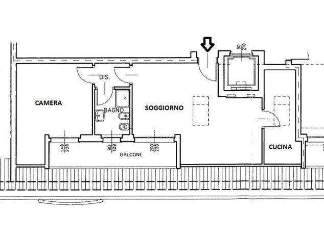 floorplans Busto Arsizio: Appartamento in Vendita, Viale Trentino, immagine 2