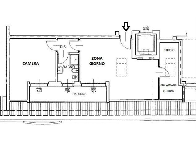 floorplans Busto Arsizio: Appartamento in Vendita, Viale Trentino, immagine 1