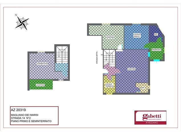 floorplans Magliano de' Marsi: Villa in Vendita, Strada 14, 2, immagine 2
