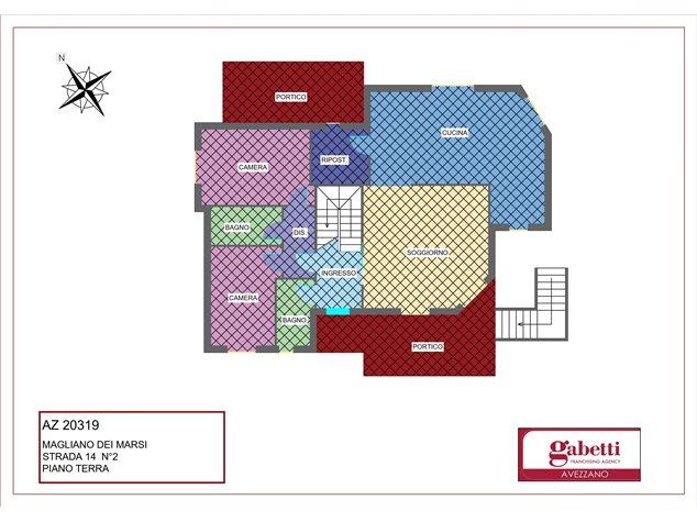 floorplans Magliano de' Marsi: Villa in Vendita, Strada 14, 2, immagine 1