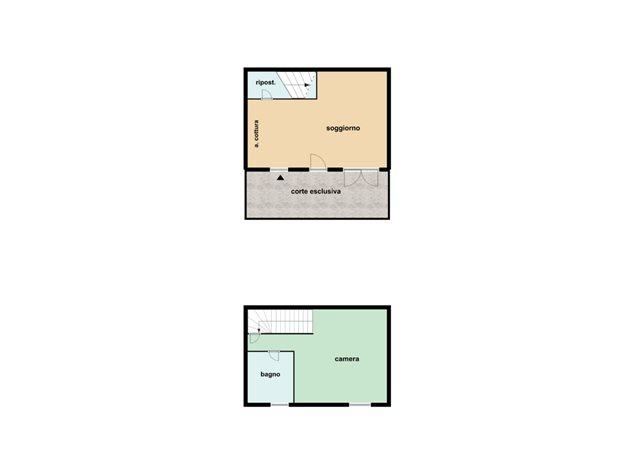 floorplans Castel Maggiore: Appartamento in Vendita, Via Castagnolino , immagine 1
