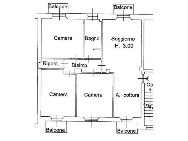 floorplans Lecco: Appartamento in Vendita, Corso Carlo Alberto, 46, immagine 1