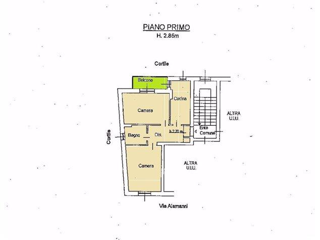 floorplans Milano: Appartamento in Vendita, Via Luigi Alamanni, 14, immagine 1