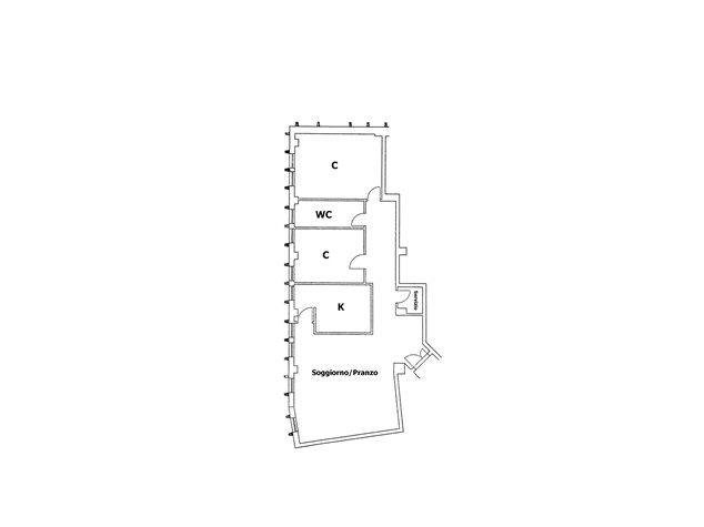 floorplans Potenza: Appartamento in Vendita, Via G. Mazzini, 23/E, immagine 1