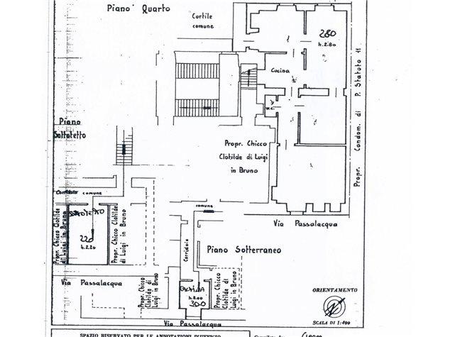 floorplans Torino: Appartamento in Vendita, Via Passalacqua, immagine 1