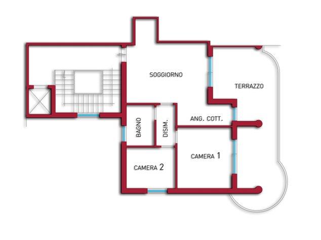 floorplans Vasto: Appartamento in Vendita, Viale Dalmazia, 173/A, immagine 1
