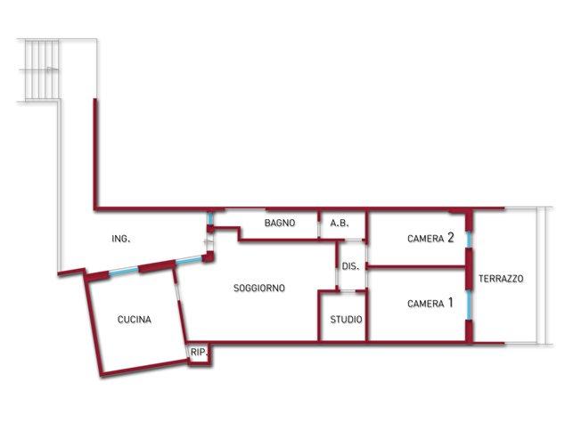 floorplans Vasto: Appartamento in Vendita, Via Del Porto, 14, immagine 1