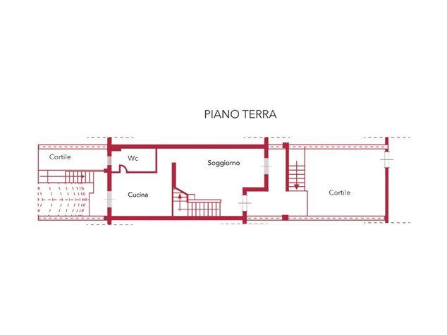 floorplans Venafro: Villa a schiera in Vendita, Via Giunio Giovenale, S/N, immagine 2
