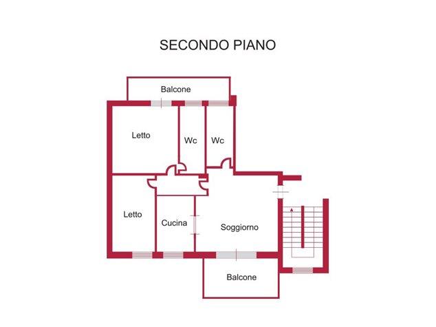 floorplans Venafro: Appartamento in Vendita, Via Sesto Giulio Frontino, 5/F, immagine 1