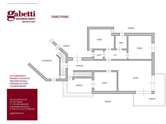 floorplans Muggia: Villa in Vendita, , immagine 3