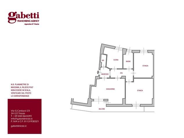 floorplans Trieste: Appartamento in Vendita, , immagine 1