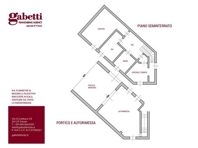 floorplans Muggia: Villa in Vendita, , immagine 1